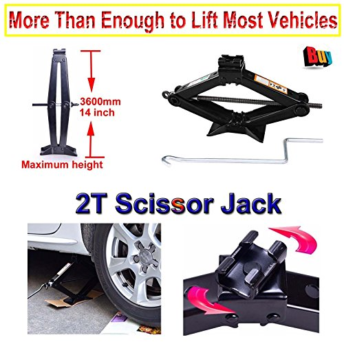 Autofu 2 Tonne Spare Tire Scissors Lift Jack with Crank Tool Rust-Proof for Toyota Corolla 1993/1994/1995/1996/1997