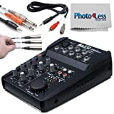 Alto Professional ZMX52 | 5-Channel 2-Bus Mixer with 6 Inputs, 3-Band EQ per Channel & +18V Phantom Power + 1/8-inch TRS to Dual ¼ inch TS Cable + 1/8-inch Dual RCA Adapter Cable + Labels + Cloth!