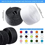 15 Colors 30 Yard Sew on Hook and Loop Tape 1 Inch