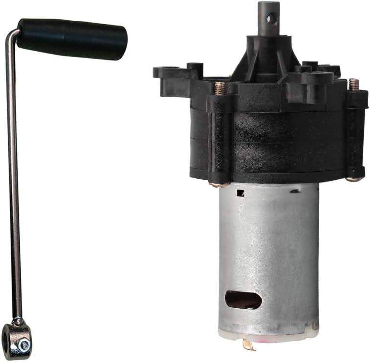 Generador hidráulico de viento en miniatura, manivela manual, motor dinamotor W/manija DC6V 12V 24V para DIY modelo de coche