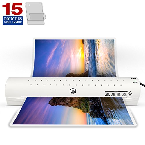 Thermal Laminator Machine for A3/A4/A6, Laminating Machine with Two Roller System, New Upgrade,Faster Warm-up, Quicker Laminating, for Home and Office Use, with 15 Pouches (A3 (Badge Laminator)