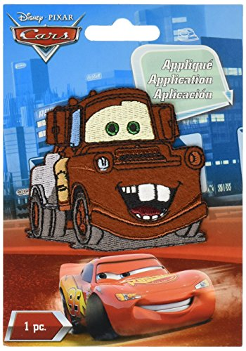 Wrights Disney Cars Iron On Applique Mater, Multi ()