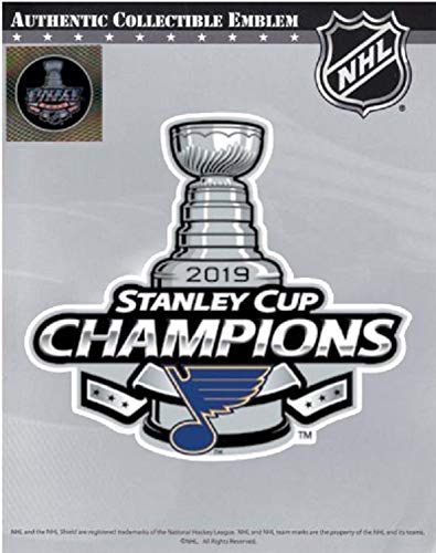 2019 Stanley Cup Final Champions Patch with Blues Official Licensed Patch in Package with Holographic Seal Logo Back Ordered Item - Shipping Begins July 7TH ()