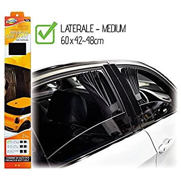 Kit Of Privacy Curtains For Car Windows And Windscreen