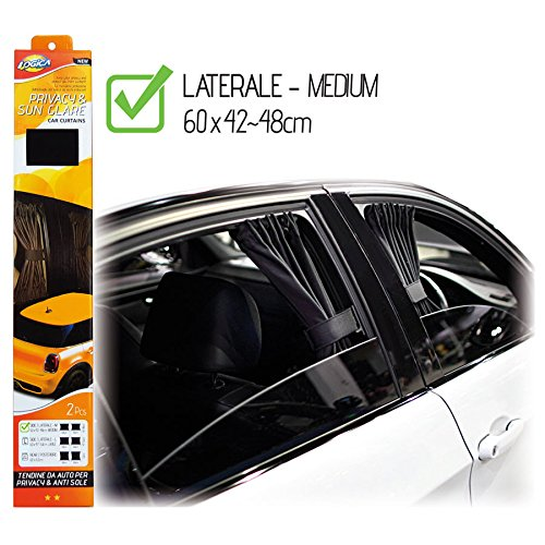 Kit of Privacy Curtains for Car Windows and Windscreen LOGICA
