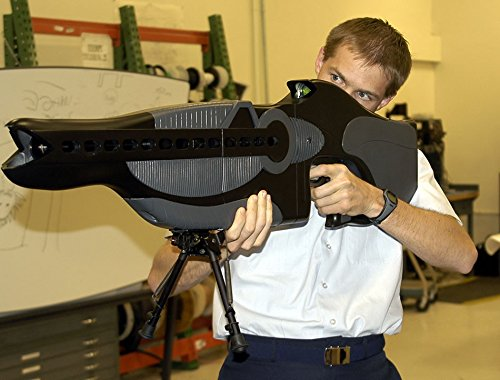 The personnel halting and stimulation response rifle (PHASR) is a prototype non-lethal laser dazzler