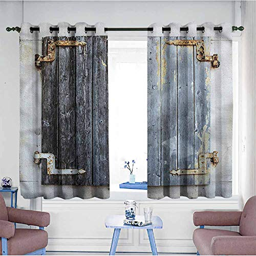 Mdxizc Curtain for Kids Shutters Antique Wooden Window for sale  Delivered anywhere in Canada