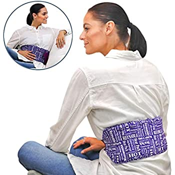 Heat Therapy Pack - Everywhere Wrap - Microwaveable Heating Pad for Back Pain, Cramps, Reusable Hot Therapy Pack by HTP Relief (Purple)