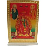 Padma Craft Shirdi Sai Baba Desk Dashboard Gold Acrylic Frame Art Hindu Altar Yoga Meditation Accessory Gift