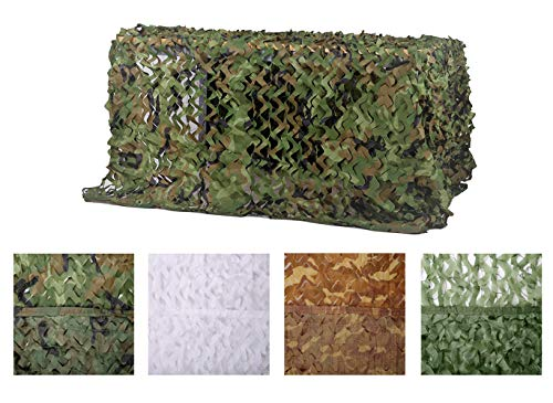 Chiglia Camouflage Netting Camo Net Sunscreen Nets Woodland 6.5ftx10ft