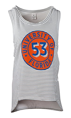 Florida Striped Shirt (NCAA Florida Gators Jacoby Striped Fashion Tank Tee, Small, Stripe)