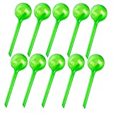Cheap Alotm 10Pcs Plant Watering Bulbs, Automatic Self-Watering Globes Plastic Balls Garden Water Device Watering Bulbs for Plant (Large, Green)