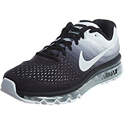 NIKE Mens Air Max 2017 Running Shoes Black/White 849559-010 Size 10