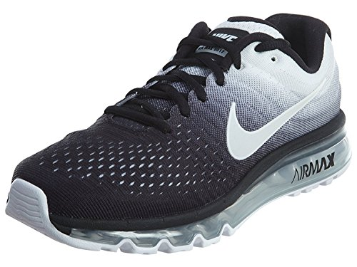 new style c5d18 e1f58 Galleon - NIKE Mens Air Max 2017 Running Shoes Black White 849559-010 Size  11