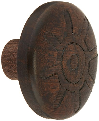Laurey 30832 Cabinet Hardware 1 3/8-Inch Round Wood Knob, Walnut Sun