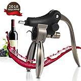 Wine Bottle Opener, Bealatt Rabbit Lever Wine Opener Corkscrew With Foil Cutter, Wine opener Accessories for Women Men, Stainless Steel