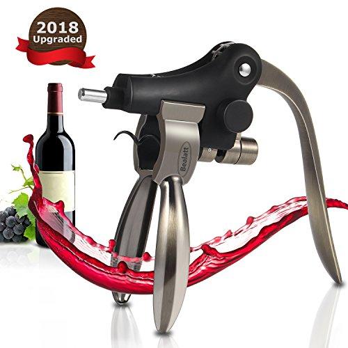 Wine Bottle Opener, Bealatt Rabbit Lever Wine Opener Corkscrew With Foil Cutter, Wine opener Accessories for Women Men, Stainless Steel by Bealatt