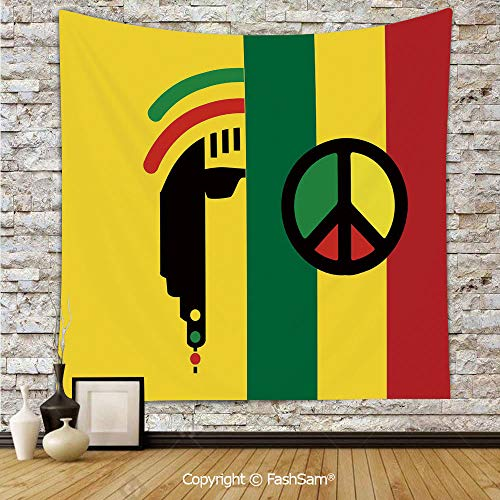 FashSam Polyester Tapestry Wall Iconic Barret Reggae and