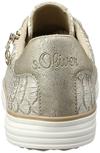 oliver Rose gold S 593 Basses Femme Sneakers rose 23615 6XddxwSq