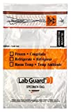 Lab Guard SBL2AP69B Polyethylene (LDPE/LLDPE Blend) Specimen Bag with TearZone and Absorbent Pad, Destroyable Biohazard Symbol  50 bags (Pack of 20)