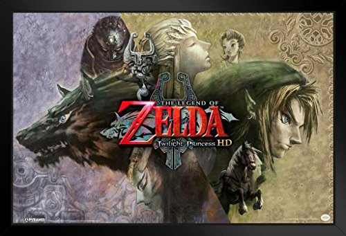 Pyramid America The Legend of Zelda Twilight Princess Video Game Gaming Framed Poster 20x14 inch