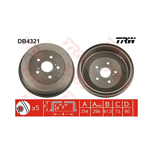 TRW DB4321 Brake Drums: