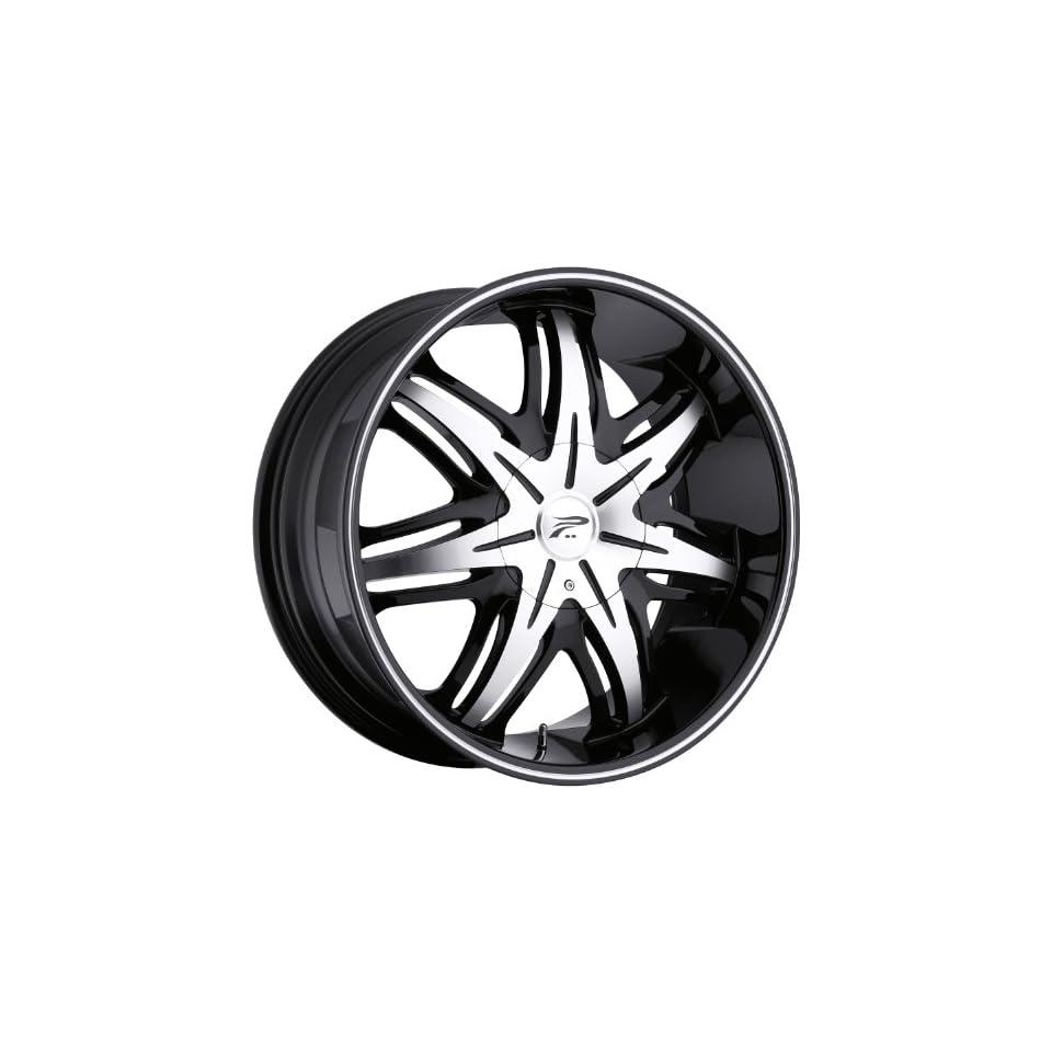 Platinum Cloak 17 Black Wheel / Rim 5x4.5 & 5x112 with a 42mm Offset and a 73 Hub Bore. Partnumber 414 7746B+42
