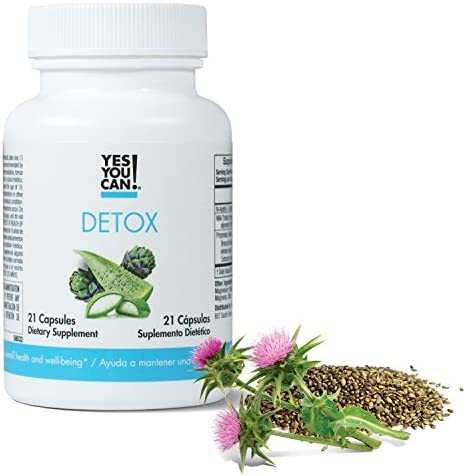 Yes You Can! Detox - 7 Day Quick Cleanse to Support Detox, Reach Ideal Weigh & Increase Energy Levels, Contains Aloe Vera, Broccoli Extract, N-Acetyl L-Cysteine - Adelgazar y Dieta - 21 Capsules 4