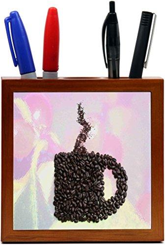 Rikki Knight Coffee Beans Mug Design  Inch Tile Wooden Ti...