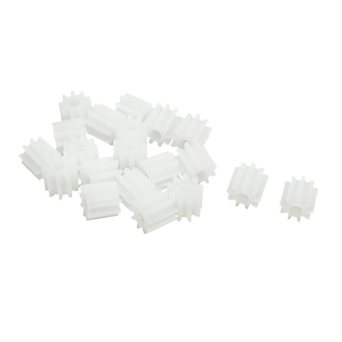 20Pcs 5.5mmx2mm 9 Teeth Plastic Gear for Car Model Motor Gearbox Shaft