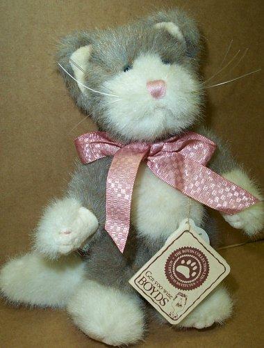 (Gen-yoo-wine BOYDS Smokey Ninelives Plush Kitty)