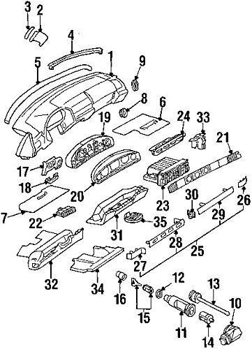(Mercedes-Benz 210 462 00 30, Ignition Lock Housing )