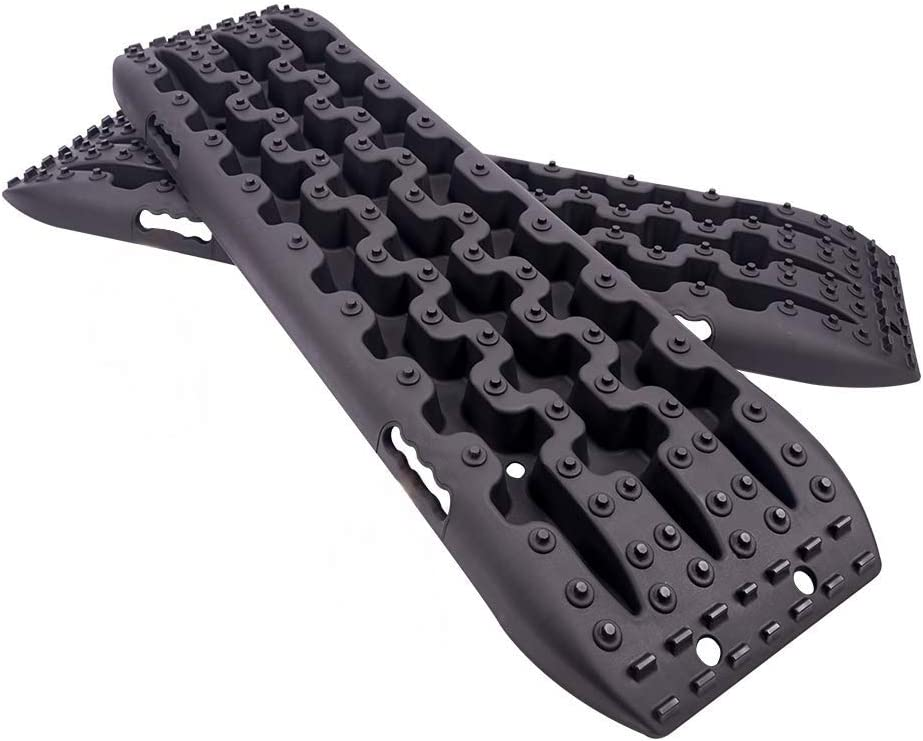 AC-DK Black Recovery Tracks Off Road Traction Boards Tire Ladder Racks for Sand Mud Snow