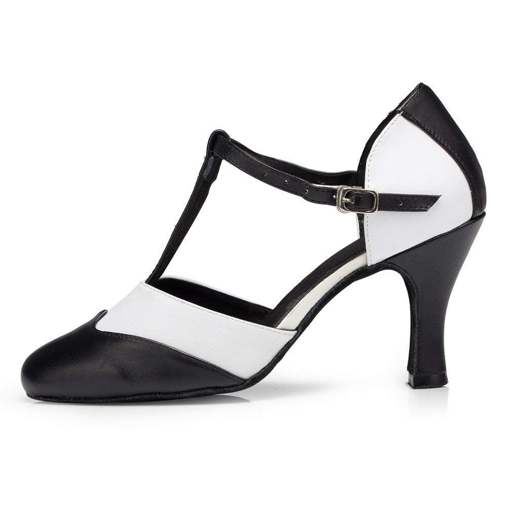 Willsego Damen T-Strap Tanzschuhe Salsa Tango Chacha Jazz Samba Modern Jazz Chacha Schuhe Sandalen High Heels (Farbe   Indoor 8cm Größe   UK5.5 EU38 Our39) cd2b1e
