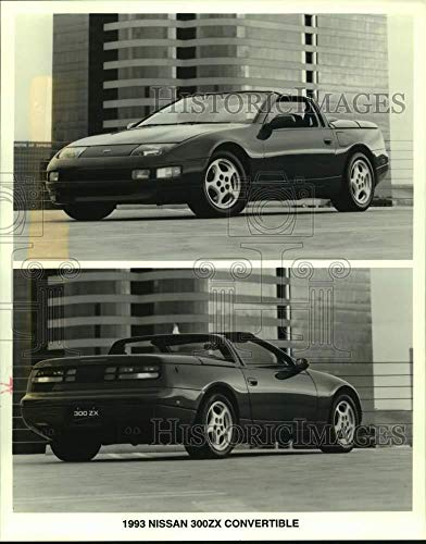 1992 Press Photo Nissan 1993 300ZX rag-top convertible front and rear view - Historic Images