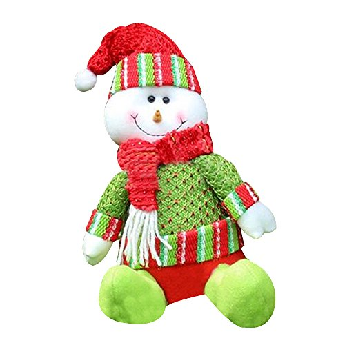 Baiyu Christmas Santa Claus Doll Soft Plush Toy Xmas Tree Decorations Ornaments Gift Home Garden Desk Birthday Party Decor Size 2719cm--Snowman