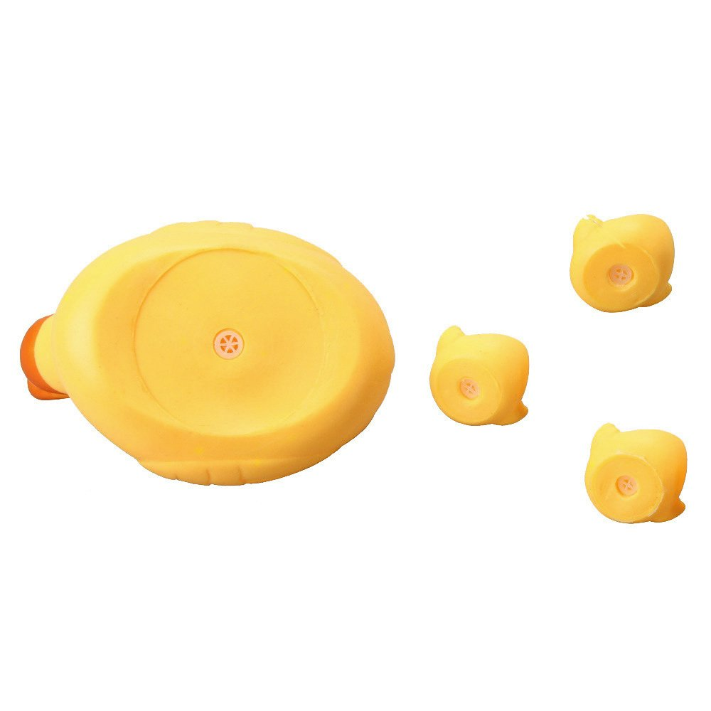 4Pcs Rubber Ducks Bath Toys Family BPA Free Cartoon Duckling Bathtub Floating Squirt Toy Set for Baby Infants Kids Toddler Child Tub Bathroom Shower Games