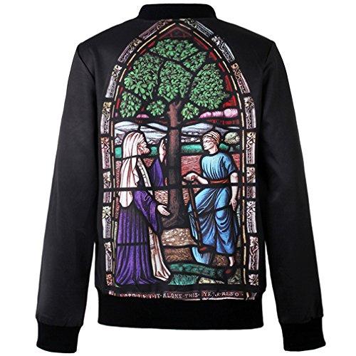 Thenice - Sudadera - Rayas - Manga Larga - para mujer Virgin Mary