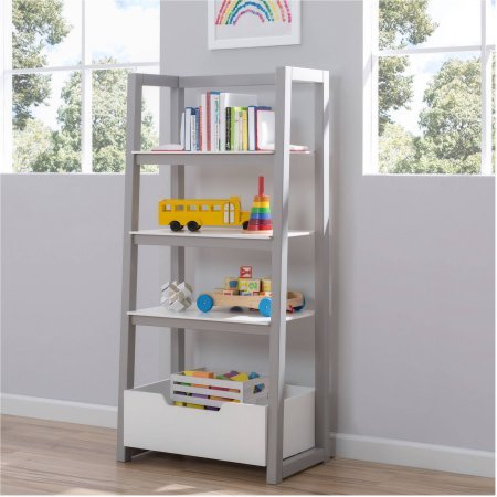 Delta Children Gateway Ladder Shelf - White and Gray