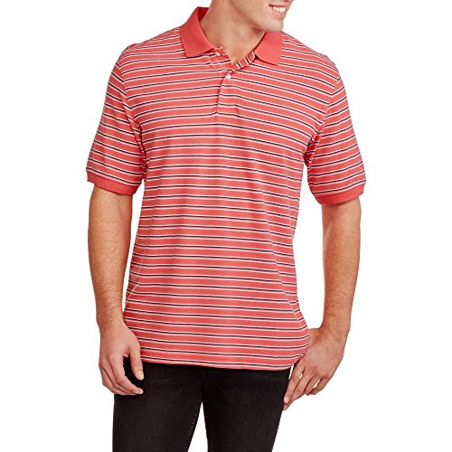 Glory Striped Shirt (Faded Glory Men's Striped Pique Polo Shirt (M, Island Coral Stripe))