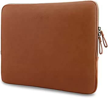 Brown Comfyable Slim Protective Laptop Sleeve 13-13.3 inch for MacBook Pro /& MacBook Air PU Leather Bag Waterproof Cover Notebook Computer Case for Mac