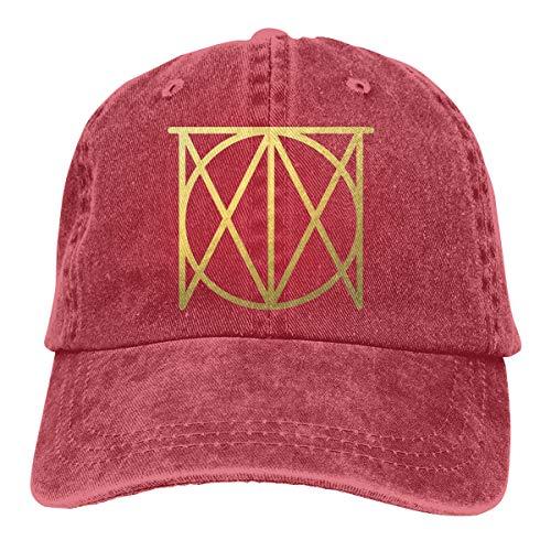 SIOjz0zj Hats Justin Timberlake Logo Music Band Denim Fabric Cap Adjustable Hat Cowboy Hat Baseball Cap Red