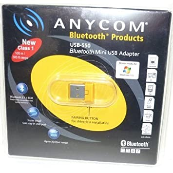 ANYCOM BLUETOOTH USB ADAPTER DRIVERS WINDOWS 7