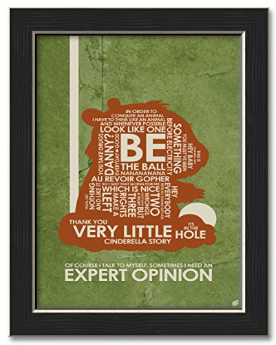 Carl Spackler,Sometimes I Need an Expert Opinion Professionally Framed Word Art Print Poster by Stephen Poon. Print Size: 9