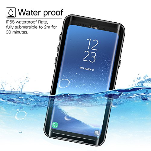 Galaxy S9 Plus Waterproof Case, Tomplus Underwater Full Sealed Cover Snowproof Shockproof Dirtproof IP68 Certified Waterproof Case for Samsung Galaxy S9 Plus