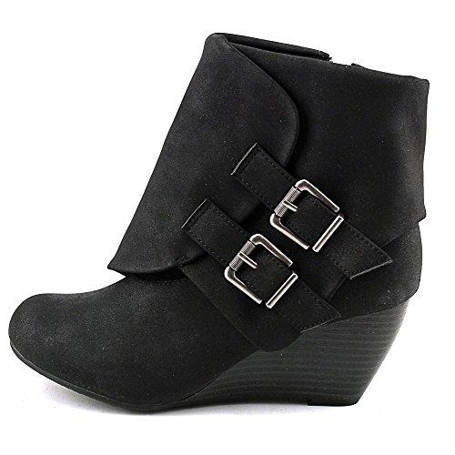 Ankle Rag Round Womens Boots Toe Cora American Black Platform pXaqB