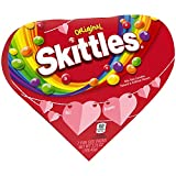 SKITTLES Original Valentine's Candy 3.75-Ounce Heart Box (Pack of 6)