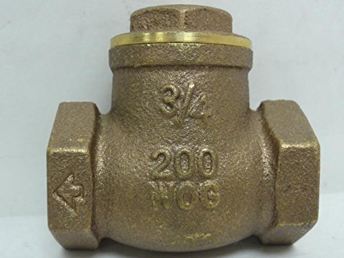 Smith-Cooper 173-9191I Brass Swing Check Valve 3/4 NPT, 200WOG by Smith-Cooper (Image #4)