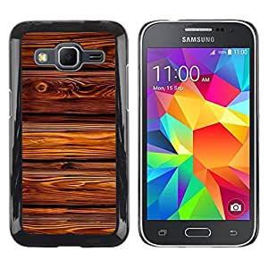 Paccase / SLIM PC / Aliminium Casa Carcasa Funda Case Cover para - Texture House Pattern Lines - Samsung Galaxy Core Prime SM-G360