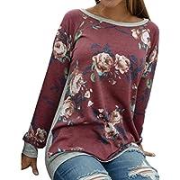100% Calidad Blusa, junke las mujeres otoño clásico de manga larga camisa de impresión Plus tamaño casual Rojo Floral Tops